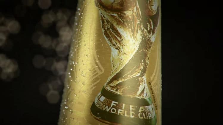 Garrafa especial da Copa da Budweiser