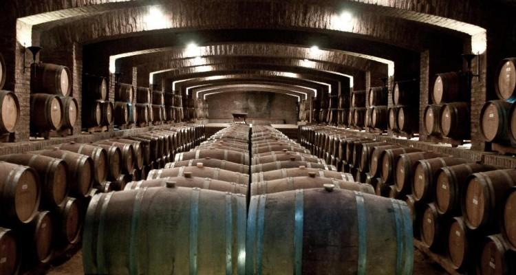 Barris de vinhos chilenos