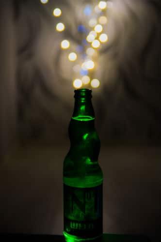 Cerveja boa com luzes