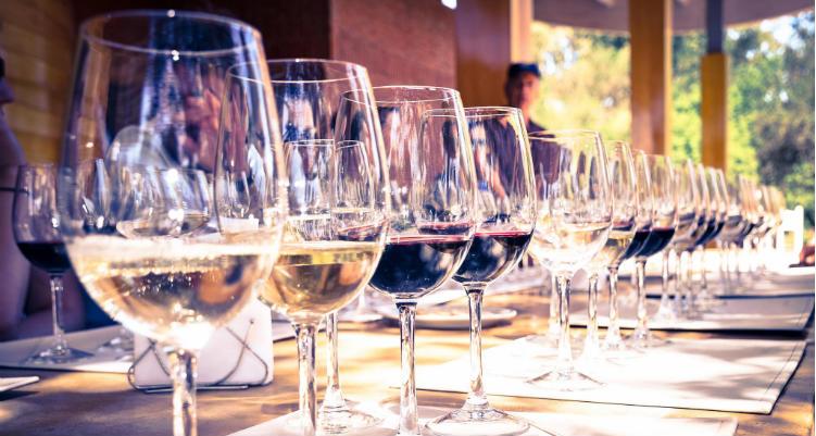 Taças de vinhos chilenos