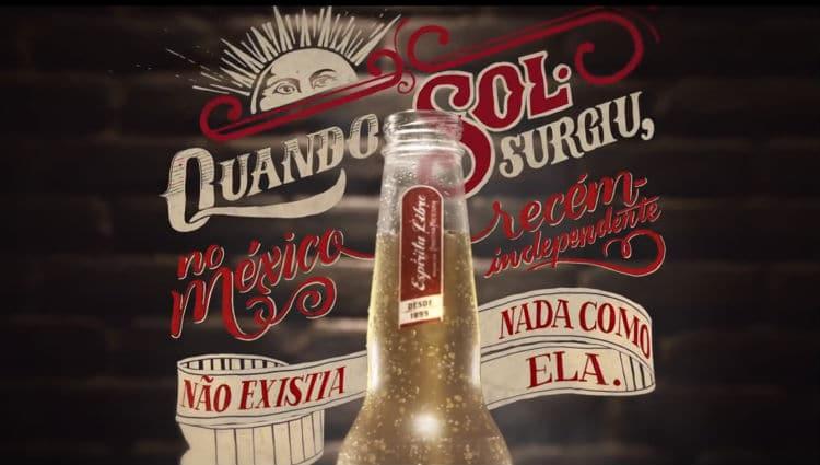 Garrafa da cerveja Sol