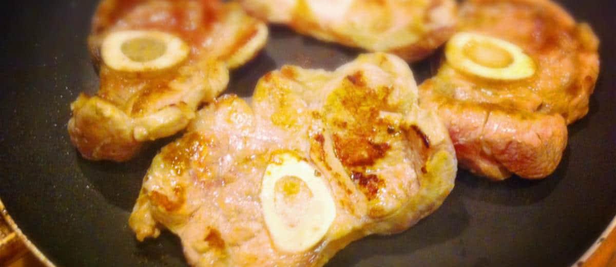 Ossobuco ao molho de conhaque e creme de gorgonzola