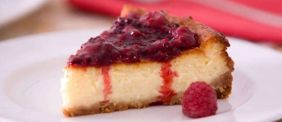 Cheescake de Framboesa com Vodka