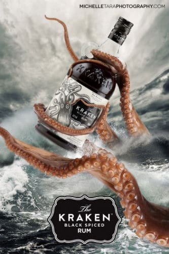 Garrafa do Rum Kraken