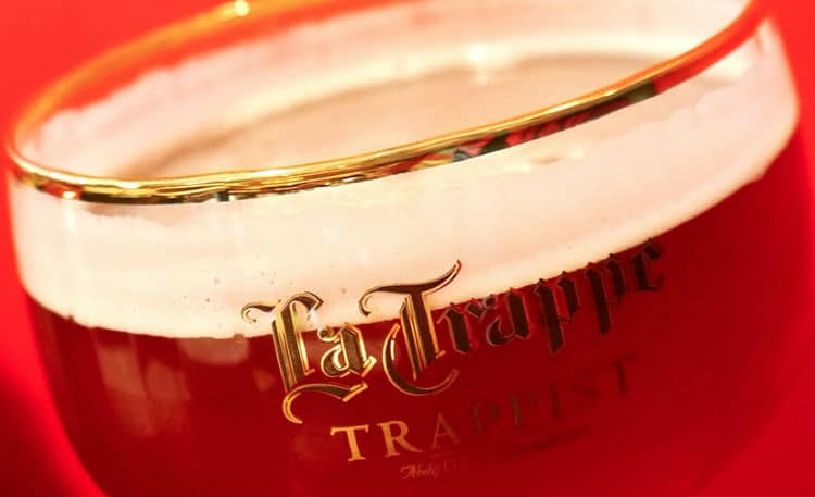 Taça da cerveja La Trappe Quadrupel