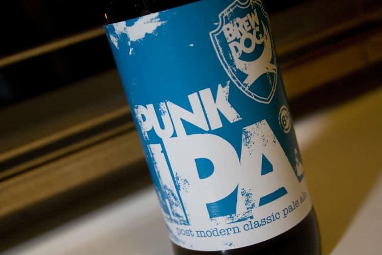 Garrafa da cerveja Brewdog Punk IPA
