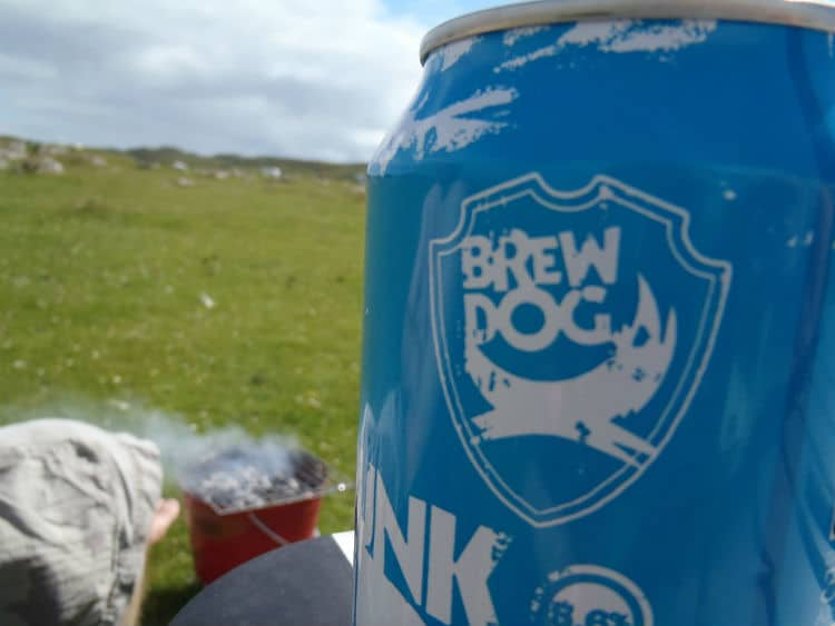 Lata da cerveja Brewdog Punk IPA