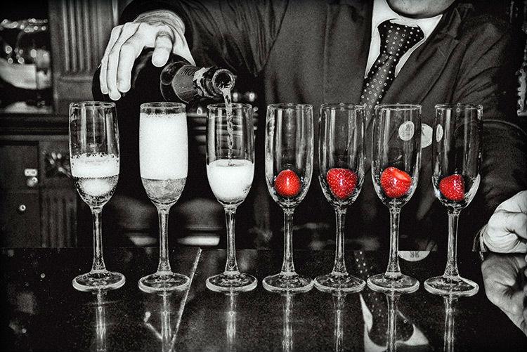 Taças de champagne