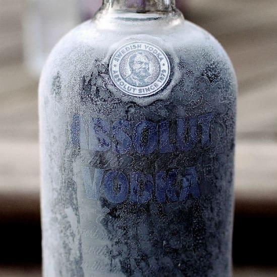 vodka congelada