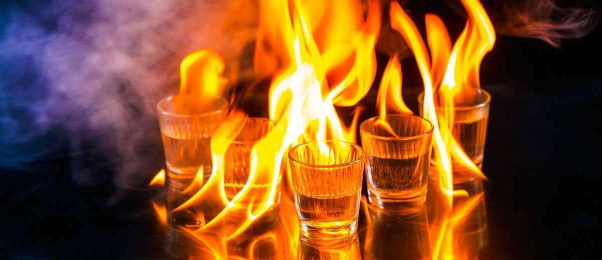 vodka pegando fogo