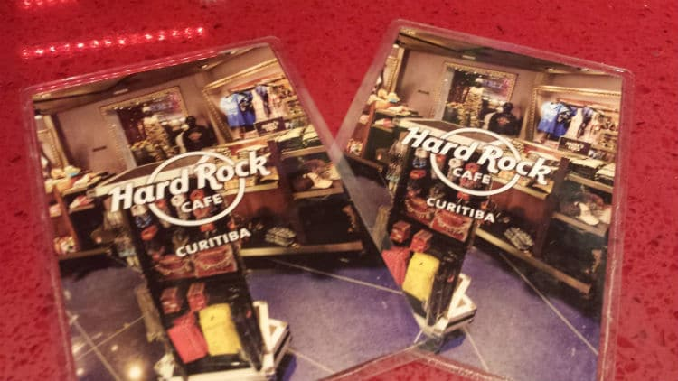 Cardápio do Hard Rock Cafe Curitiba