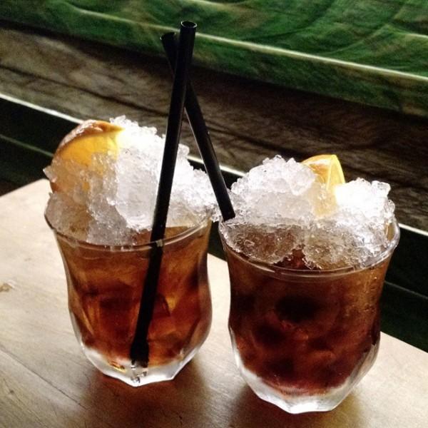 Drink feito pelo bartender William Barão no Rota dos Drinks do Jack Daniel's