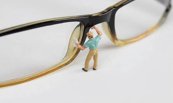 limpador de lentes de oculos