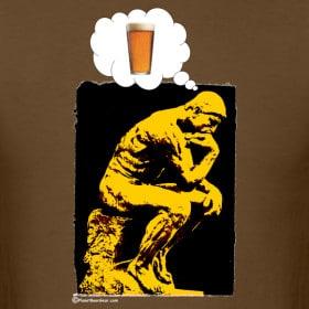 pensador pensando em cerveja