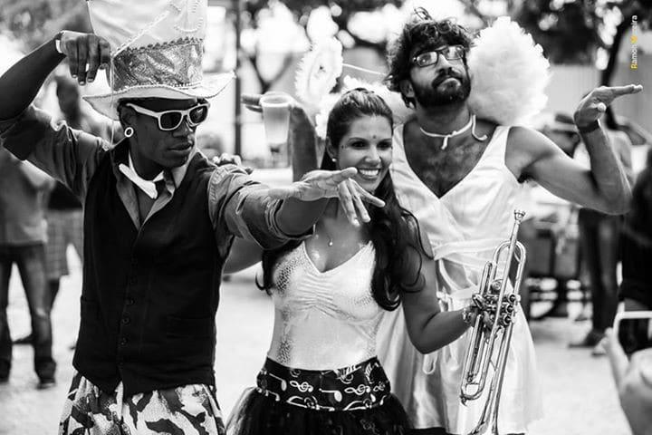 Vidal, Aline e Dulcetti no Carnaval do Rio de Janeiro