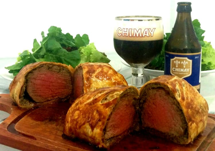Bife Wellington com Chimay Blue do MasterChef