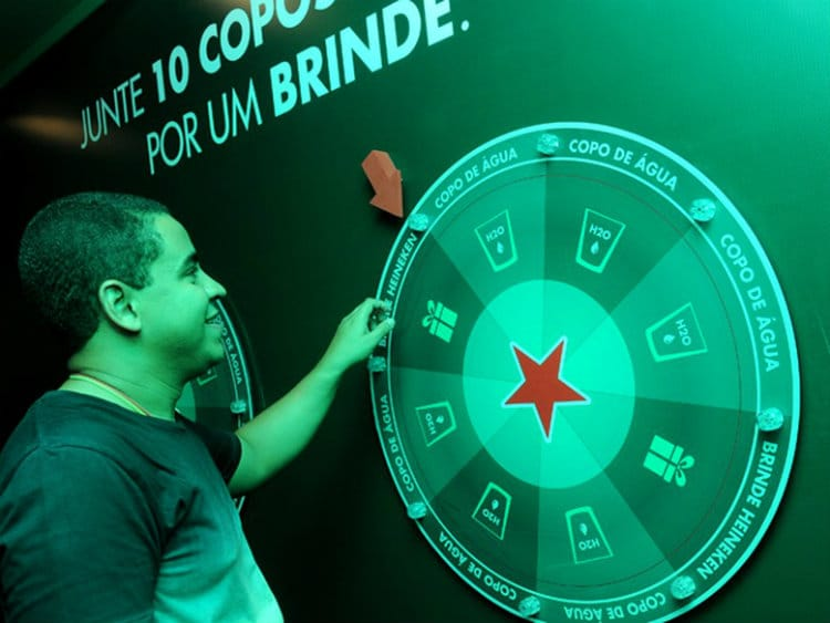 roleta Rock & Recycle da Heineken no Rock in Rio