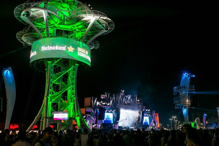 tirolesa da heineken no Rock in Rio