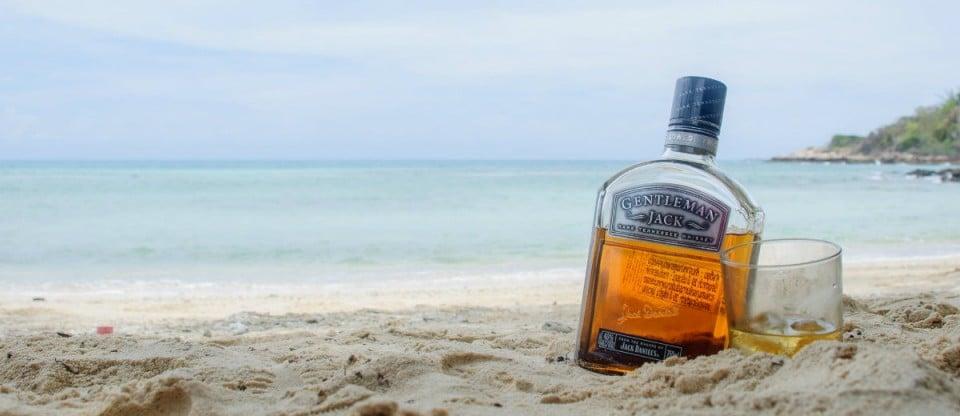 whisky na praia