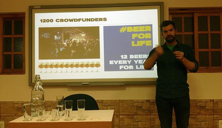 Sébastien Morvan, um dos criadores do Brussels Beer Project.