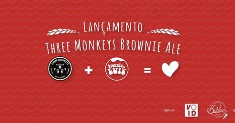 Lançamento da cerveja da Three Monkeys e Brownie do Luiz
