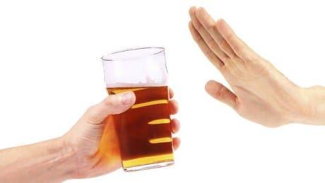 não quero beber
