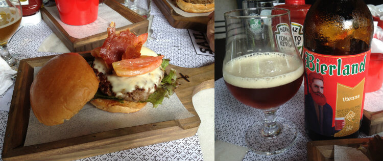 Bierland Vienna e hambúrguer do Sailor Burger Beers