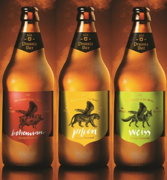 garrafas da Prussia Bier