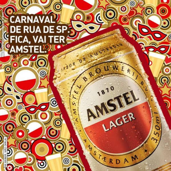 A Amstel irá patrocinar o Carnaval de São Paulo