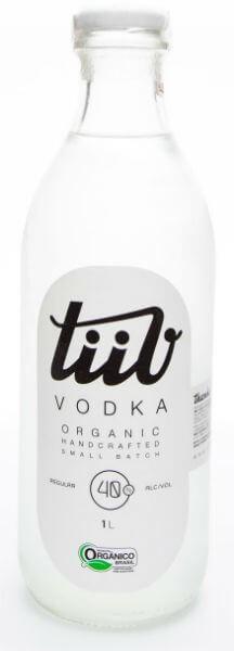 garrafa da vodka orgânica