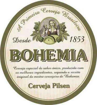 Rótulo da Bohemia, uma das 4 cervejas mais valiosas do Brasil