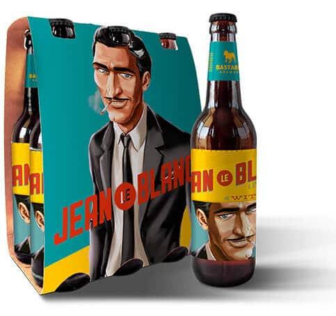 Pack da cerveja Jean Le Blanc, da Bastards