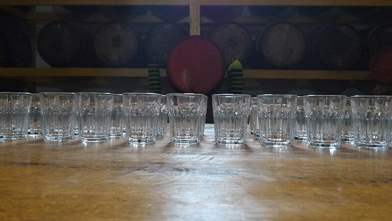 copos de cachaça