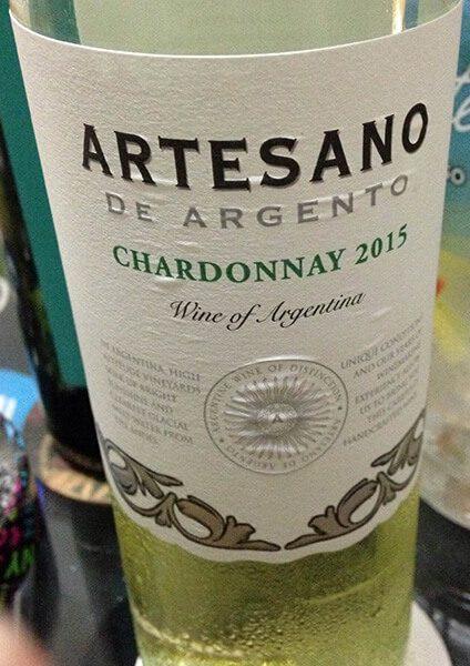 vinho branco Artesano chardonnay