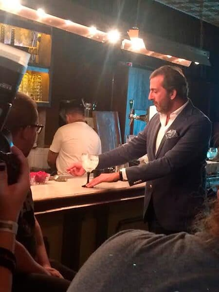 Nuno Fonseca. Barman Português que nos deu a aula sobre gin.