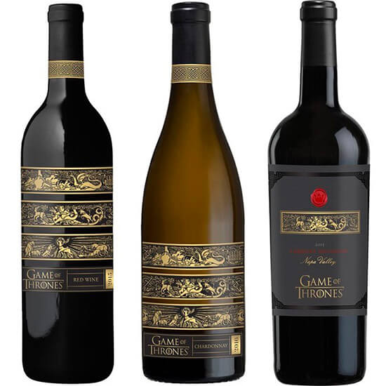 Vinhos oficiais de Game of Thrones