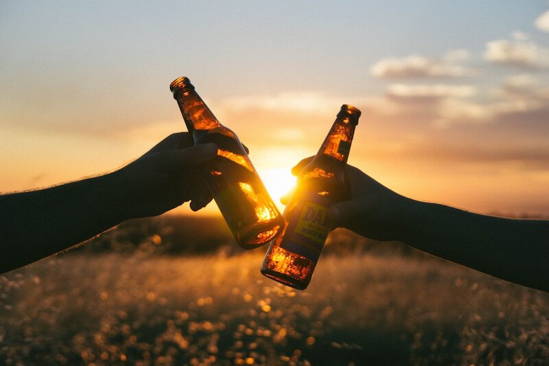 brinde garrafas cerveja