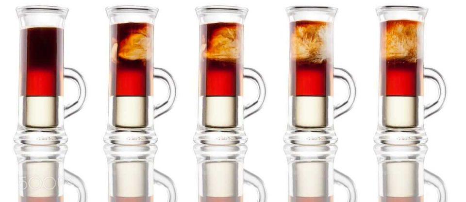 drinks em camadas vermelho