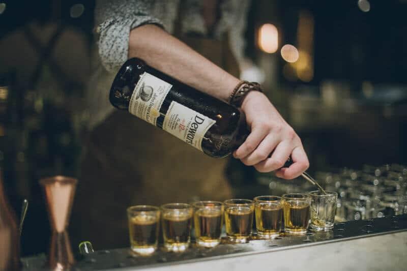 garrafa dewar's e shots