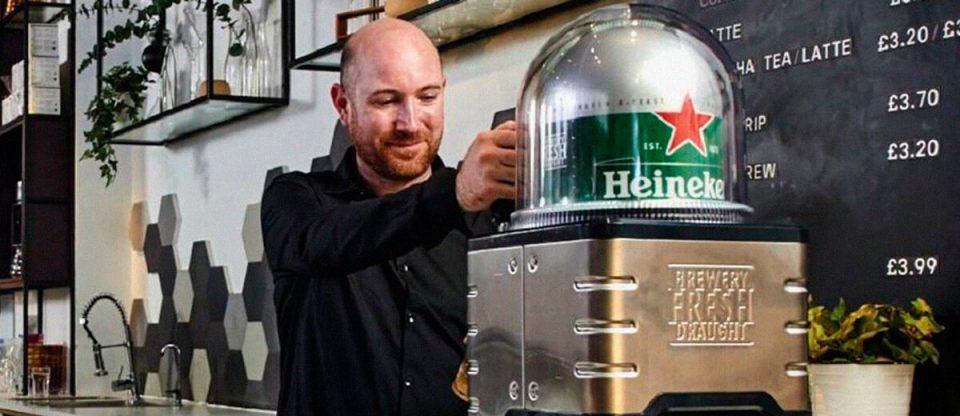 Nespresso da Heineken funcionando