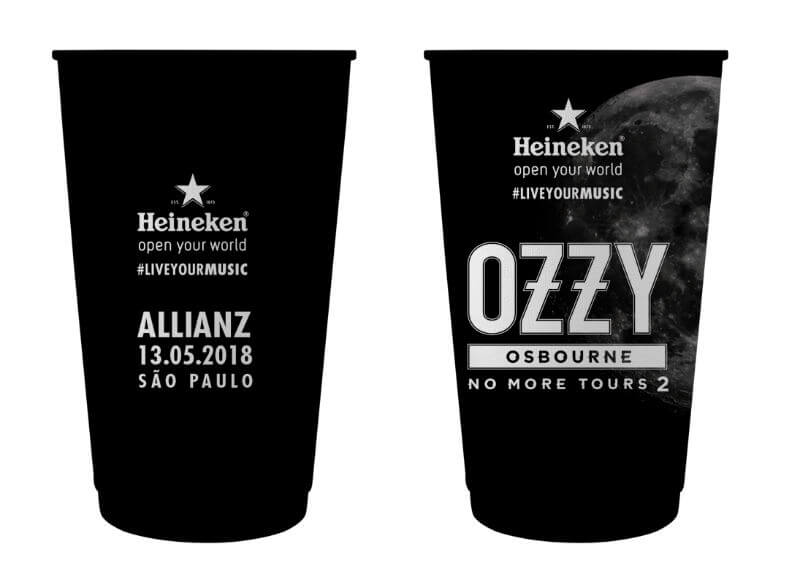 Copos Heineken Ozzy Osbourne