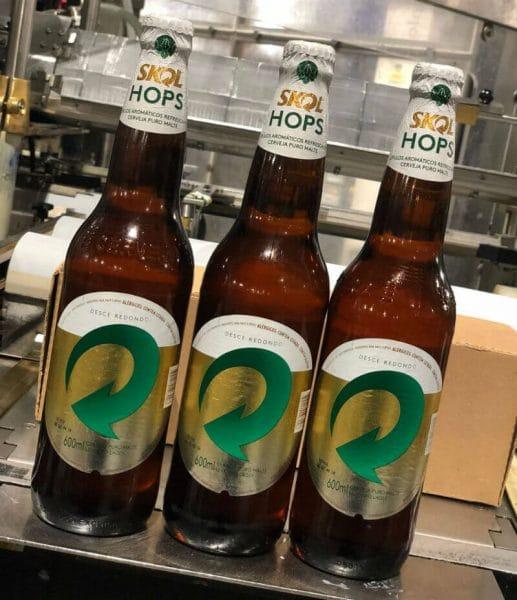 garrafas skol hops, cerveja puro malte da Skol