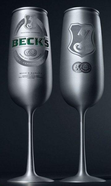 becks latinha de taça de alumínio que nem champagne