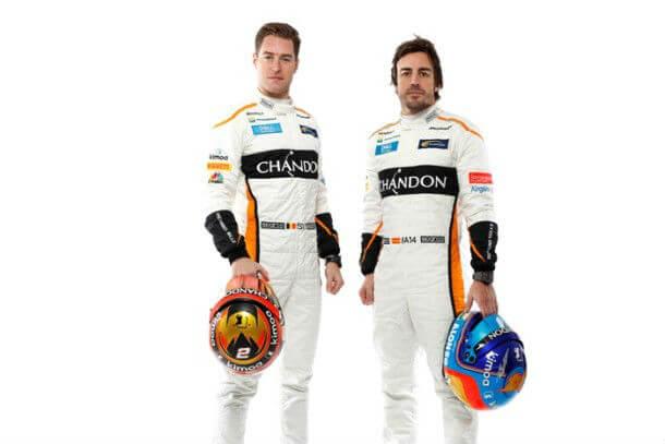 McLaren e Chandon e pilotos