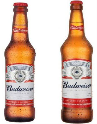embalagem de material reciclado da Budweiser