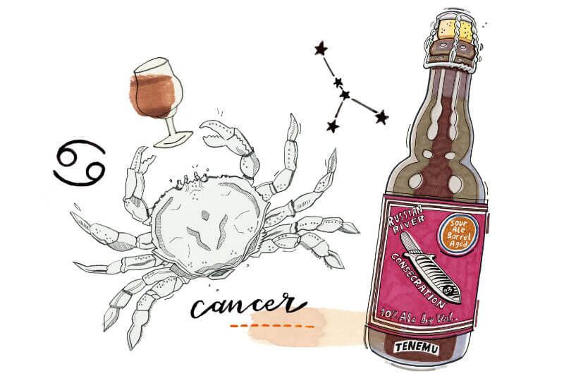 Signo de câncer e cerveja