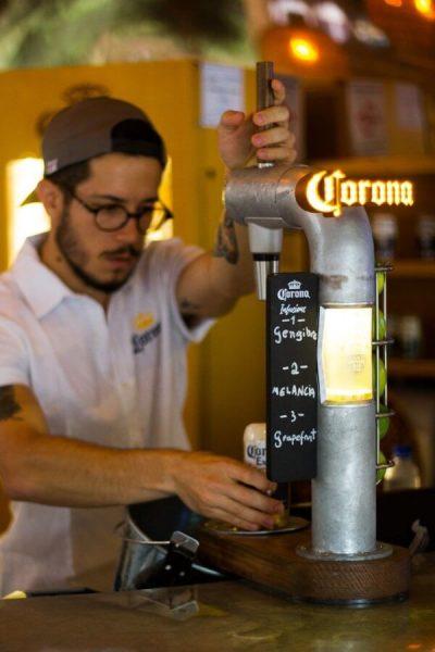 Chopp da Corona, no bar Vista Corona
